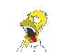 Free Cartoons Wallpaper : Homer Simpson