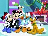 Free Cartoons Wallpaper : House of Mouse - Christmas