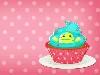 Free Cartoons Wallpaper : Kawaii - Cupcake