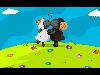 Free Cartoons Wallpaper : Kissing Lambs