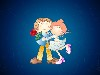 Free Cartoons Wallpaper : Lovely Couple