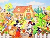 Free Cartoons Wallpaper : Mickey and Friends - Gardening
