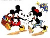 Free Cartoons Wallpaper : Mickey and Minnie - Picnic