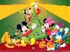 Free Cartoons Wallpaper : Mickey - Christmas Tree