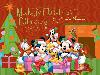 Free Cartoons Wallpaper : Mickey Mouse and Friends - Christmas