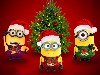 Free Cartoons Wallpaper : Minions - Christmas