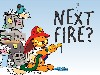 Free Cartoons Wallpaper : Garfield - Firefighter