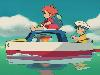 Free Cartoons Wallpaper : Ponyo on the Cliff by the Sea
