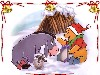 Free Cartoons Wallpaper : Pooh and Eeyore - Christmas