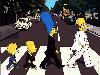 Free Cartoons Wallpaper : Simpsons - Beatles