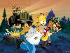 Free Cartoons Wallpaper : Simpsons - Survival