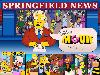 Free Cartoons Wallpaper : The Simpsons - Springfield News