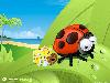 Free Cartoons Wallpaper : Traveller Ladybug