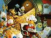 Free Cartoons Wallpaper : Uncle Scrooge and Nephews