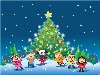 Free Cartoons Wallpaper : Xmas - Children