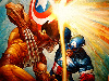 Free Comics Wallpaper : Captain America vs. Wolverine (by Greg Staples)