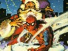 Free Comics Wallpaper : Spiderman and Santa Claus
