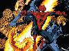 Free Comics Wallpaper : Spiderman and Fantastic Four