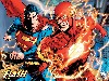 Free Comics Wallpaper : The Flash and Superman