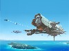 Free Fantasy Wallpaper : Airborne Aircraft Carrier