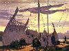 Free Fantasy Wallpaper : Departure at the Grey Havens
