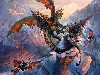 Free Fantasy Wallpaper : Dragon of War