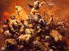 Free Fantasy Wallpaper : Frank Frazetta - The Destroyer