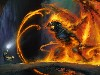 Free Fantasy Wallpaper : Gandalf vs Balrog