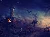 Free Fantasy Wallpaper : Halloween - Scarecrows