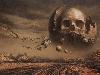Free Fantasy Wallpaper : Moon Skull