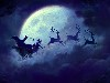 Free Fantasy Wallpaper : Santa - Moon