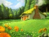Free Fantasy Wallpaper : Wonderful Cabin
