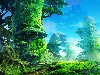 Free Fantasy Wallpaper : Wonderful Forest