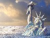Free Fantasy Wallpaper : World Without People - NY Ice Age