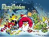 Free Games Wallpaper : Angry Birds - Merry Christmas