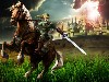 Free Games Wallpaper : Link and Epona