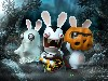 Free Games Wallpaper : Rabbids - Halloween