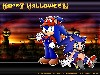 Free Games Wallpaper : Sonic and Mario - Halloween