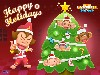Free Games Wallpaper : Super Monkey Ball - Christmas