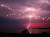 Free Nature Wallpaper : Lightning at Dusk