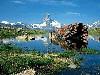 Free Nature Wallpaper : Matterhorn  - Lake