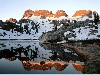 Free Nature Wallpaper : Minarets Reflected in Lake Ediza