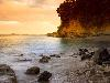 Free Nature Wallpaper : Sunset on the Beach