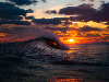 Free Nature Wallpaper : Sunset - Wave
