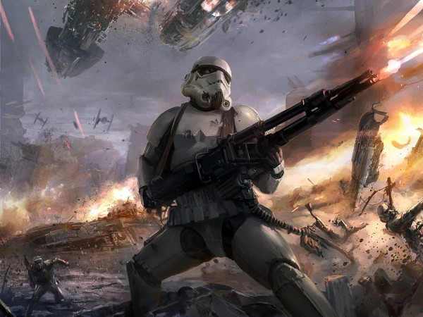 Star Wars Stormtroopers Fantasy Art Artwork Bwing Down: Star Wars Wallpaper : Badass Stormtrooper