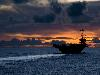 Free Vehicles Wallpaper : Aircraft Carrier - Sunset