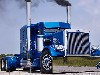 Free Vehicles Wallpaper : Blue Truck