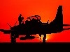 Free Vehicles Wallpaper : Military Plane - Sunset