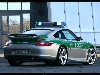 Free Vehicles Wallpaper : Police Car - Porsche (Rear Angle)