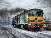Free Vehicles Wallpaper : Train - Snow